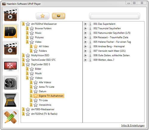 HS-UPnP-Player:Verwendung mit Netzwerk-Servern – Haenlein